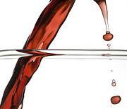 Droplet Prints - Decanting Wine Print by Frank Tschakert
