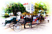 New At Digital Art Posters - Decatur Street at Jackson Square Poster by Bill Cannon