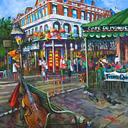 French Quarter Painting Prints - Decatur Street Print by Dianne Parks