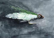 Fishing Lure Paintings - Deceiver Fishing Fly by Sean Seal