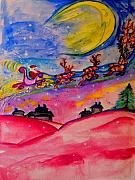 Christmas Eve Mixed Media Prints - December 24th Print by Helena Bebirian