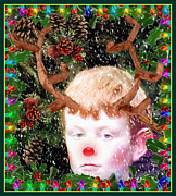 Rudolph Digital Art Prints - December Faun Print by Mindy Newman