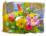 Signed Prints - December Flowers Print by Chuck Staley