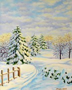 Christmas Card Originals - December Morning by Inese Poga