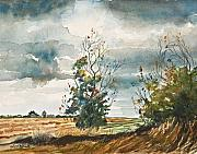 Dolores Paintings - December Storm Breaking by Dolores Mitchell