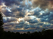 Deceptive Metal Prints - Deceptive Clouds Metal Print by Cricket Hackmann