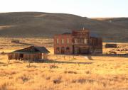 Ghost Town Photo Posters - Dechambeau Hotel and IOOF Hall in Bodie CA Poster by Troy Montemayor