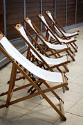 Objects Photo Acrylic Prints - Deckchairs Acrylic Print by Carlos Caetano