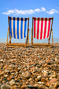 Deckchair Framed Prints - Deckchairs Framed Print by Richard Thomas