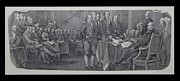 Patriots Prints - DECLARATION OF INDEPENDENCE in BLACK AND WHITE Print by Rob Hans