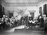 Benjamin Franklin Prints - Declaration Of Independence Print by Photo Researchers, Inc.