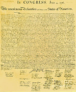 Declaration Of Independence Photo Prints - Declaration Of Independence Print by Photo Researchers