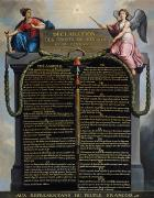 Liberty Painting Prints - Declaration of the Rights of Man and Citizen Print by French School