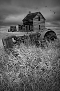 Rusted Cars Framed Prints - Decline of the Small Farm No.2 Framed Print by Randall Nyhof