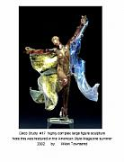 Nudes Glass Art - Deco Dancer by Peter Townsend