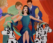 Great Dane Paintings - Deco Diva by Tony Franza