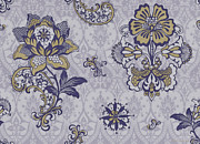 Tapestry Paintings - Deco Flower blue by JQ Licensing