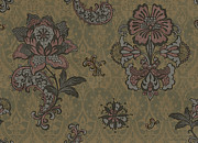 Patchwork Prints - Deco Flower Brown Print by JQ Licensing