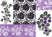 Patchwork Prints - Deco Flower Patchwork 3 Print by JQ Licensing
