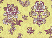 Patchwork Prints - Deco Flower Yellow Print by JQ Licensing