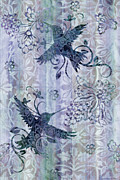Patchwork Prints - Deco Hummingbird Blue Print by JQ Licensing