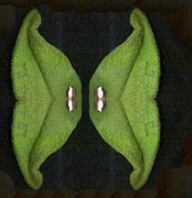 Insects Mixed Media - Decorative green in the dark by Pepita Selles