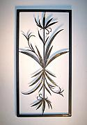 Iron  Sculptures - Decorative Iron Panel by Michael Hill