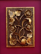 Orthodox Reliefs - Decorative Panel - Bouquet of Flowers by Goran