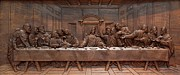 Original Art Reliefs Prints - Decorative Panel - Last Supper Print by Goran