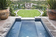 Luna Art - Decorative Pool at the Casa Luna Ranch by Rob Tilley