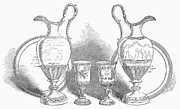 Silver Pitcher Posters - Decorative Service, 1852 Poster by Granger