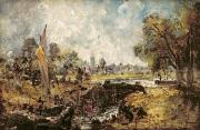 Constable Metal Prints - Dedham Lock Metal Print by John Constable