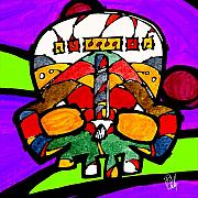 Canadian Indian Art Paintings - Dedhed 676 by Dan Daulby