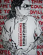 Lil Wayne Paintings - Dedication 3 by Morgan Baudoin