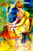 Long Dress Mixed Media - Dedication  Mucha Eternal Through His Works 4  by Tammera Malicki-Wong
