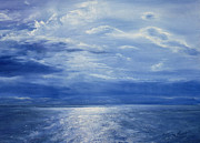 Reflecting Water Paintings - Deep Blue Sea by Antonia Myatt