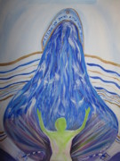 Prayer Shawl Paintings - Deep calls to deep by Wendy Smith
