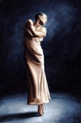 White Dress Painting Prints - Deep Consideration Print by Richard Young