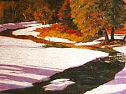 Snow Pastels - Deep Creek Winter Number Two by Mark Henthorn