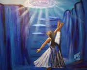 Stairway To Heaven Painting Posters - Deep Down Dance Poster by Pamorama Jones