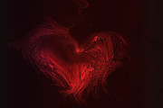 Hearts Digital Art - Deep Hearted by Linda Sannuti