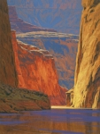 Landscape Oil Framed Prints - Deep in the Canyon Framed Print by Cody DeLong