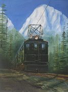 Train Paintings - Deep in the Cascades by Christopher Jenkins