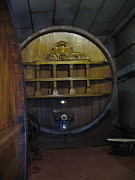 Wine Cellar Photos - Deep in the Caves by Norm Holmberg