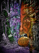 Spirits Digital Art - Deep in the Forest by Mimulux patricia no