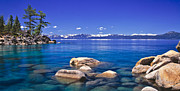 Lake Tahoe Framed Prints - Deep Looks Panorama Framed Print by Vance Fox