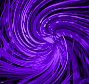 Swish Framed Prints - Deep Purple Spin Art Framed Print by Debra     Vatalaro