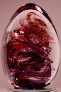Glass Art Glass Art Posters - Deep Reds II  PRE1 Poster by David Patterson
