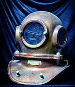 Diving Helmet Photo Posters - Deep Sea Dive Helmet Poster by Paul Ward