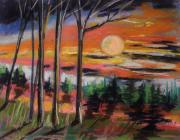Woods Pastels - Deep Sunset by John  Williams